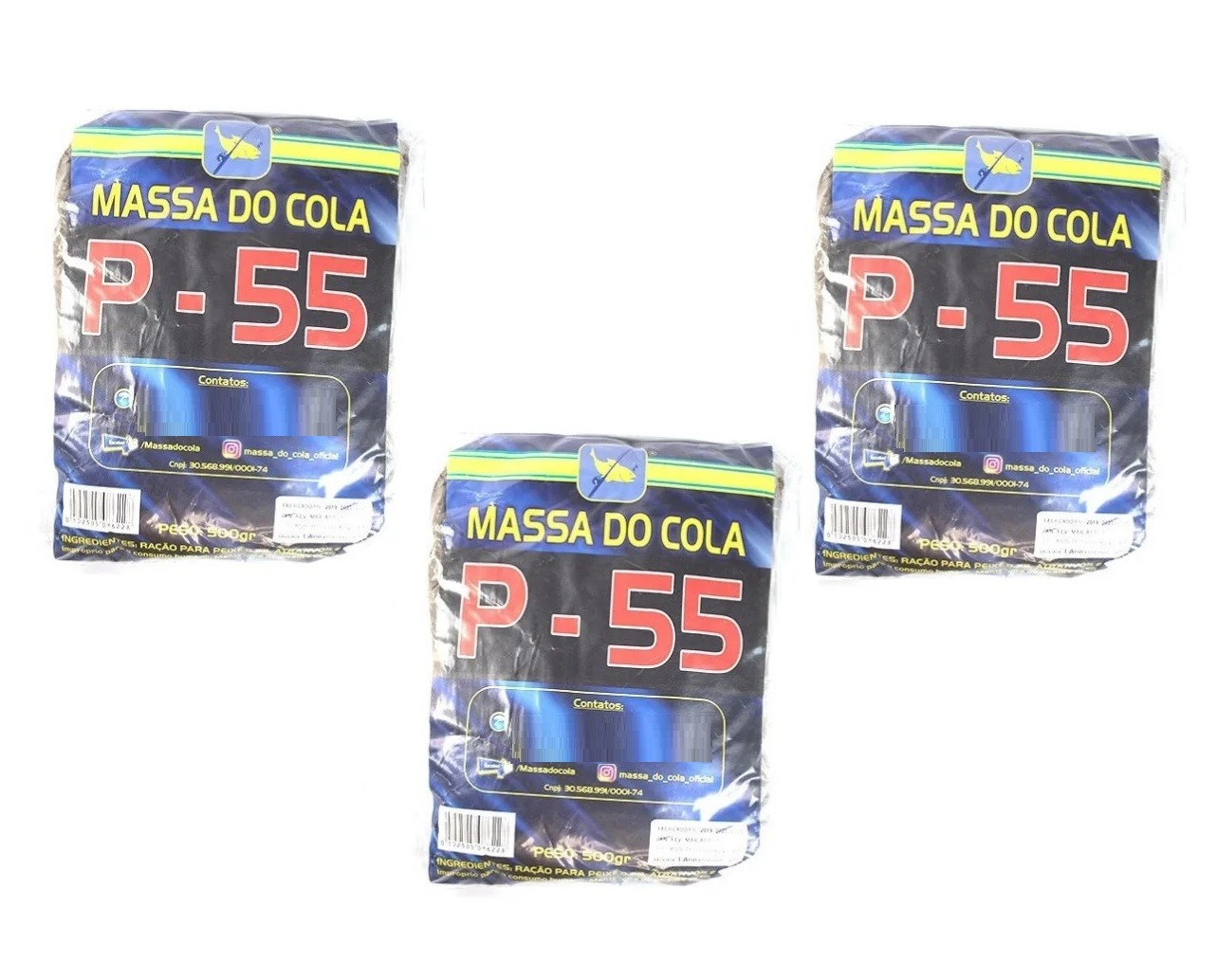 Kit 3 Massas Para Pesca Do Cola - P-55 (3x500g)