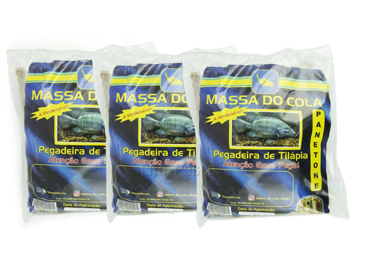 Kit 3 Massas Para Pesca Do Cola - Tilápia Panetone (3x500g)