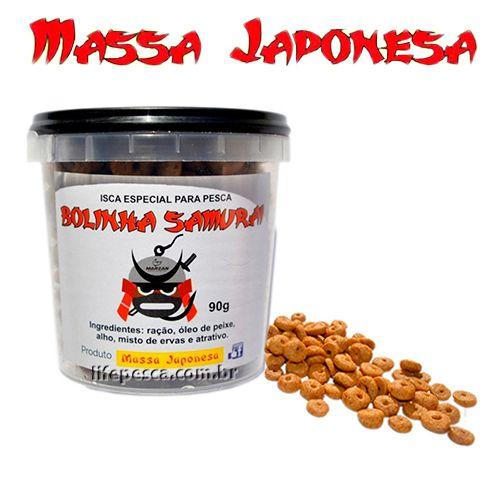 Kit 3 Potes Iscas Japonesa Bolinhas 1x Ninja 90g + 1x Samurai 90g + 1000 Blue Ice 90g  - Life Pesca - Sua loja de Pesca, Camping e Lazer