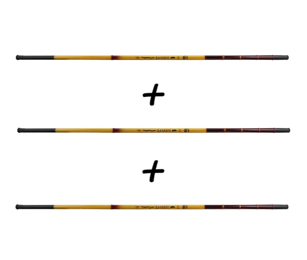 Kit 3 Varas Telescópicas Albatroz Fishing Bamboo 41% Carbono - 2,40 Metros