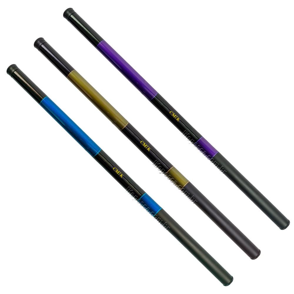Kit 3 Varas Telescópica Cmik 40% Carbono (4,00m) 9-11lbs