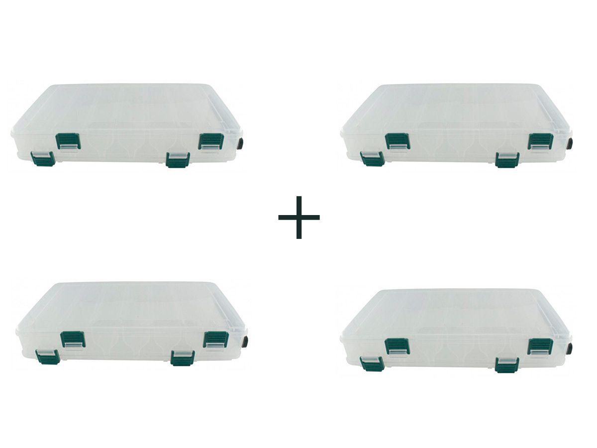 Kit 4 Estojo P/ Iscas Bait Box Hs326 14 Divisões - Jogá