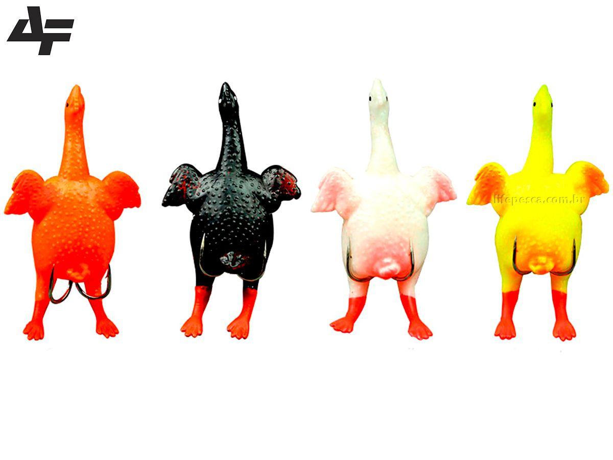 Kit 4 Iscas Artificiais Franguinho Albatroz Top Chicken 8,5cm/9gr - 4 Cores Diferentes