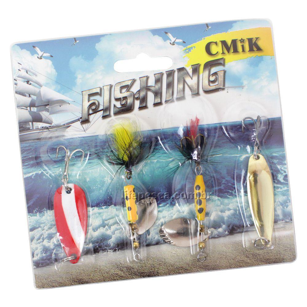 Kit 4 Spinners Fishing 7cm/7g - Cmik