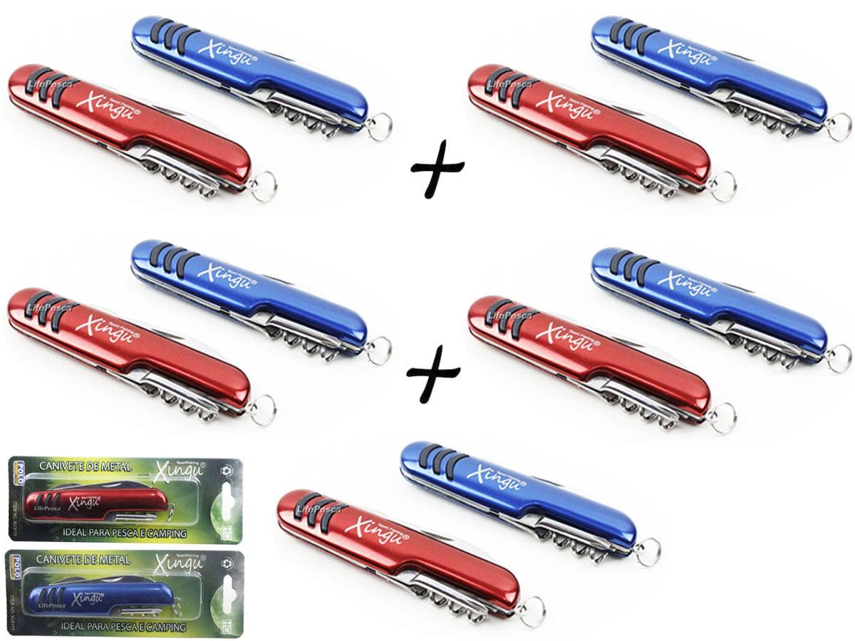 Kit 5 Canivetes 5 Funções Xingu XV3177 Estilo Suíço - Cores