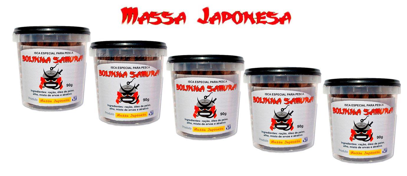 Iscas Bolinha Samurai Especial para Pesca - Kit 5 Potes com 90g