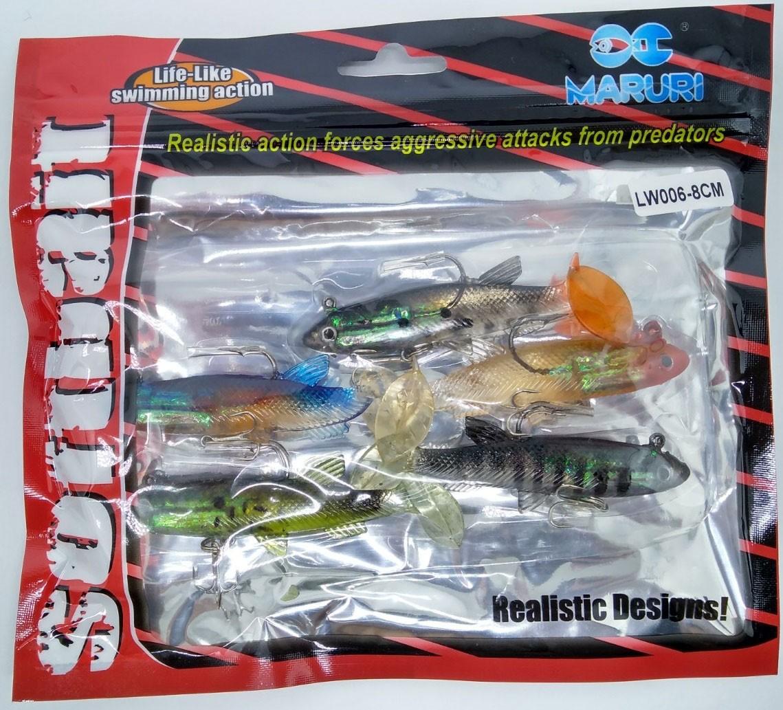 Kit 5 Iscas Artificiais Maruri - LW006 8cm  - Life Pesca - Sua loja de Pesca, Camping e Lazer