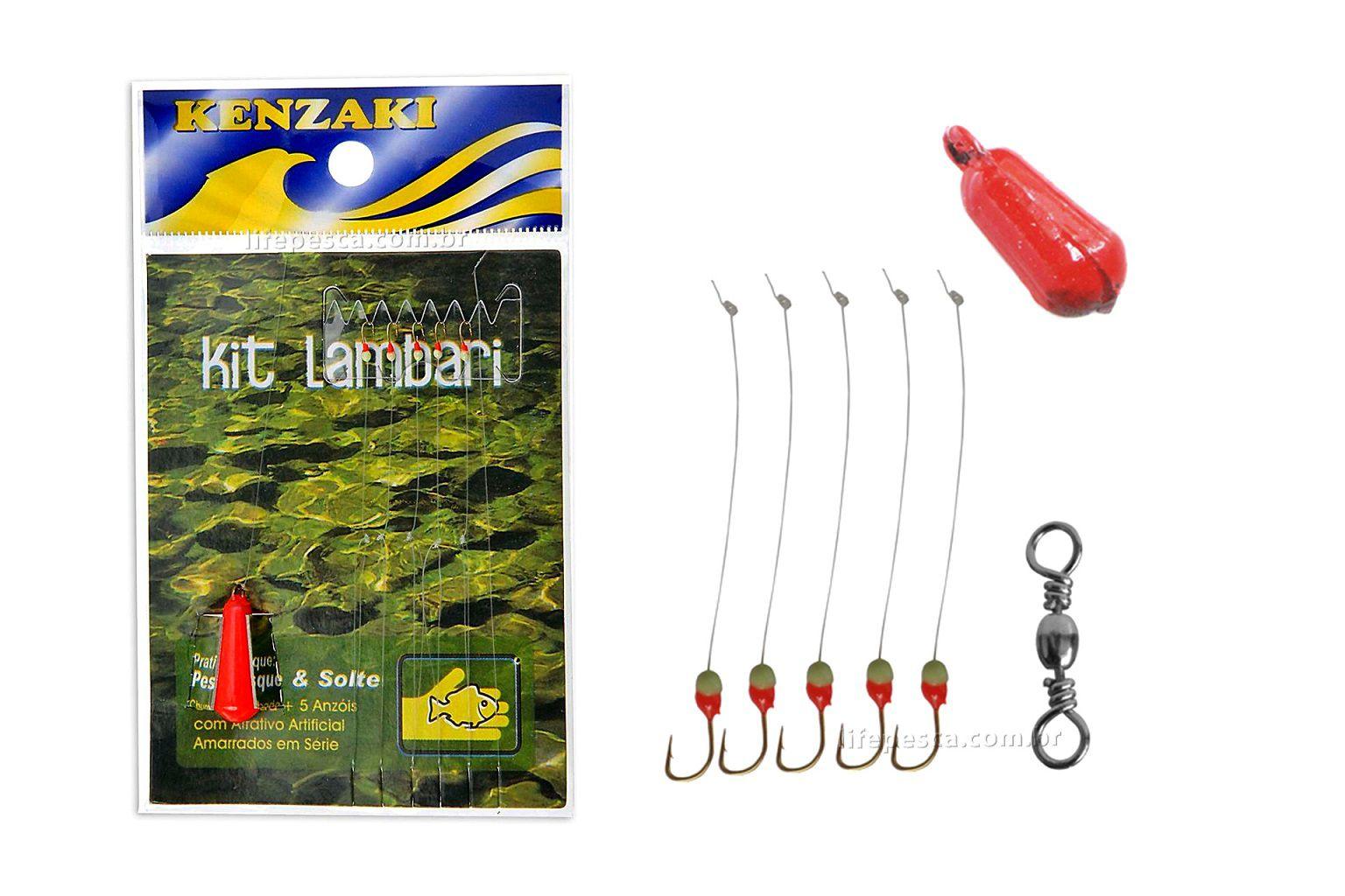 Kit Anzol Kenzaki - Lambari  - Life Pesca - Sua loja de Pesca, Camping e Lazer