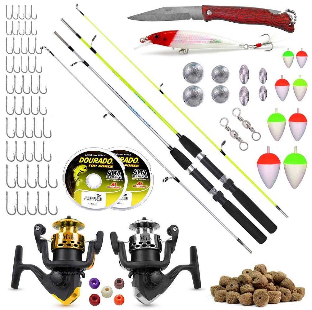 Kit De Pesca Completo 2 Varas 2 Molinetes C/ Acessórios (Ref. 01)