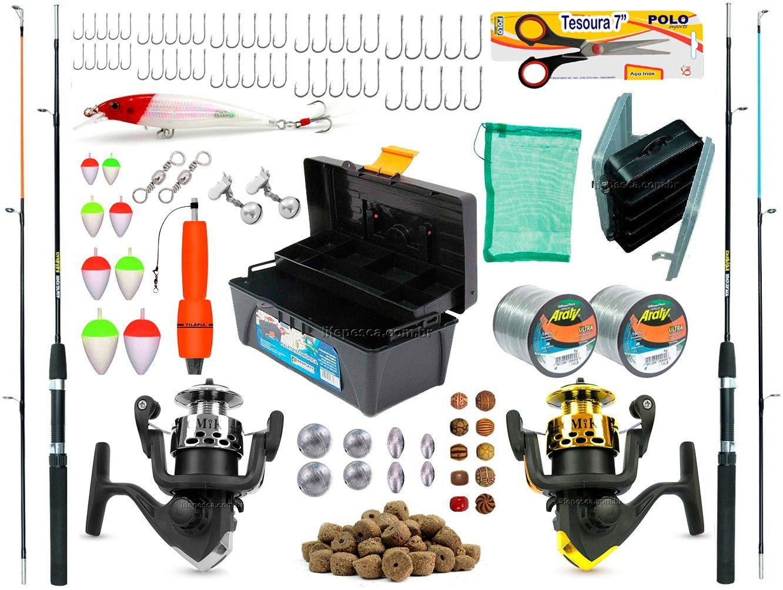 Kit De Pesca Completo 2 Varas 2 Molinetes + Caixa de Pesca e Acessórios (Ref. 04)  - Life Pesca - Sua loja de Pesca, Camping e Lazer