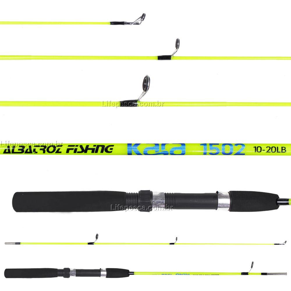 Kit de Pesca Vara e Molinete C/ Linha de Pesca (Ref. 06)  - Life Pesca - Sua loja de Pesca, Camping e Lazer