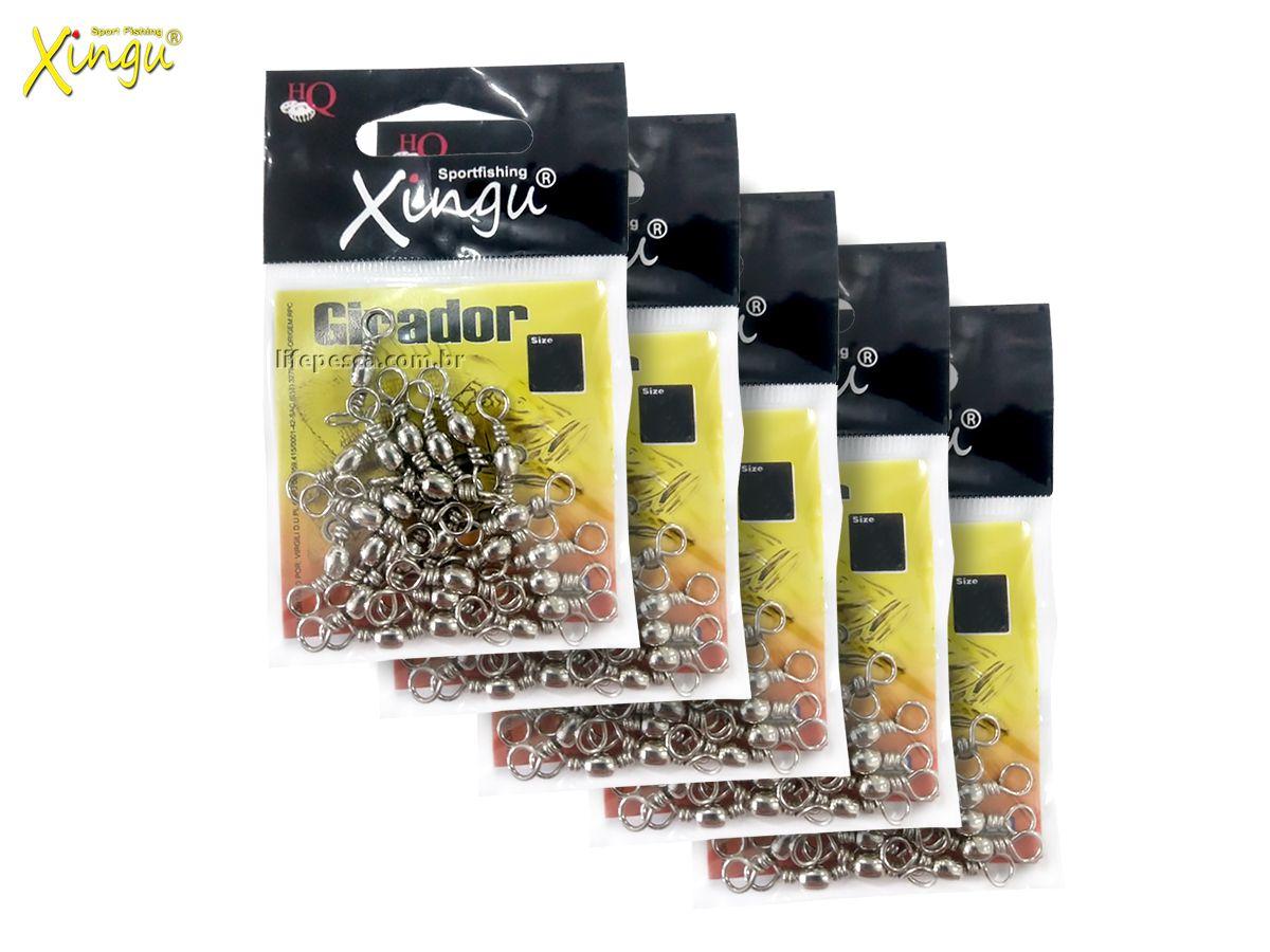 Kit Giradores Xingu Nickel N° 4 (2,4cm) - 100 Peças