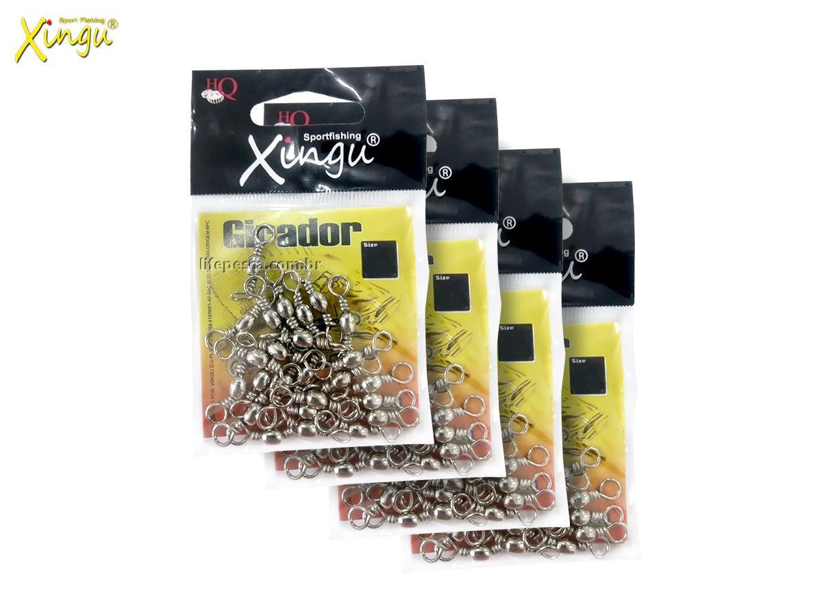 Kit Giradores Xingu Nickel N° 6 (2,3cm) XV2474 - 100 Peças