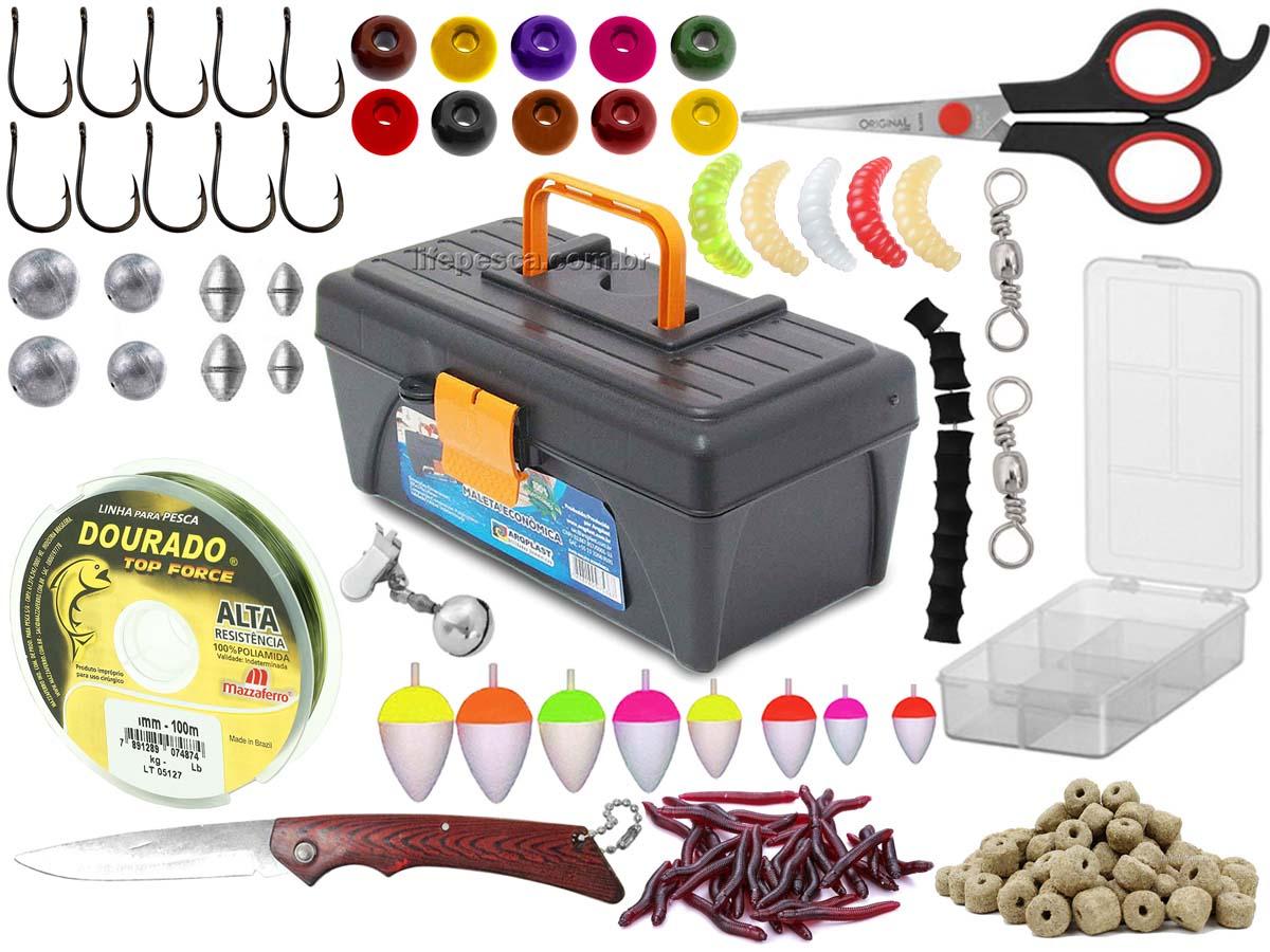 Kit Para Pesca Pronto c/ 1 Caixa + 1 Estojo + Acessórios  (Ref. 105)