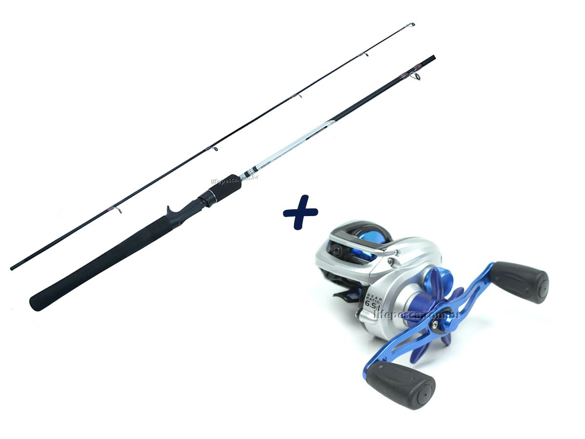 Kit Pesca Vara New Diamond 1,68m 12lb + Carretilha Maruri Bronx 6000 (inativo)