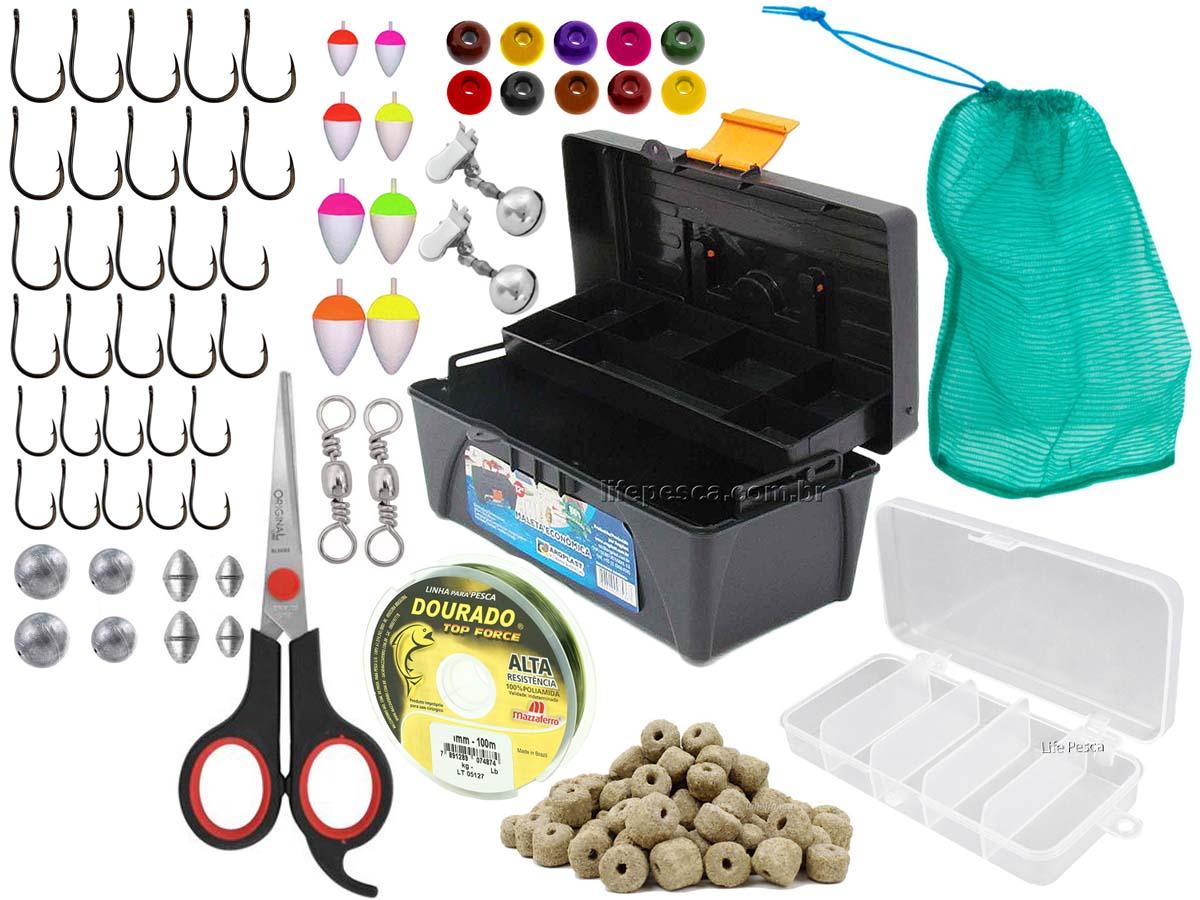 Kit Pescador c/ 1 Caixa + 1 Estojo + Acessórios  (Ref. 104)