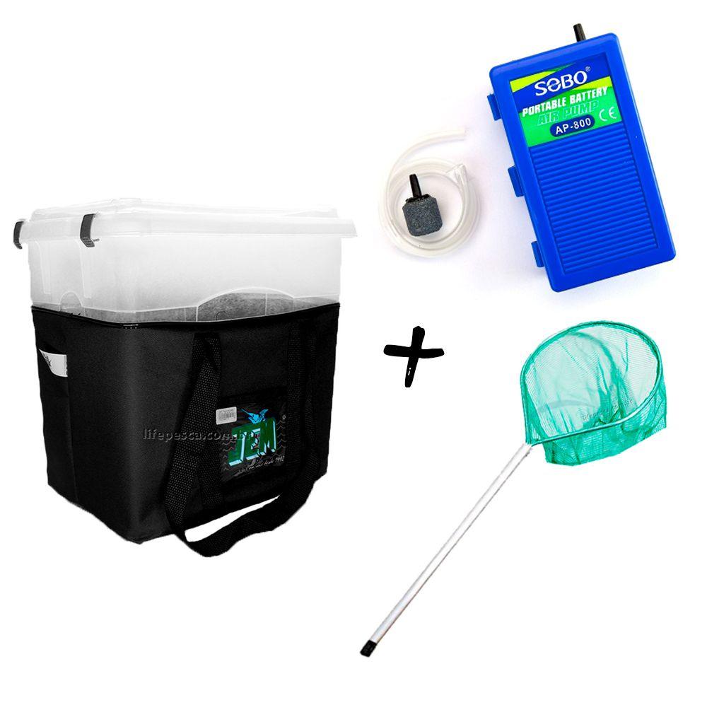 Kit Transisca 20 Lts + Oxigenador SOBO + Passaguá Mini - JEM