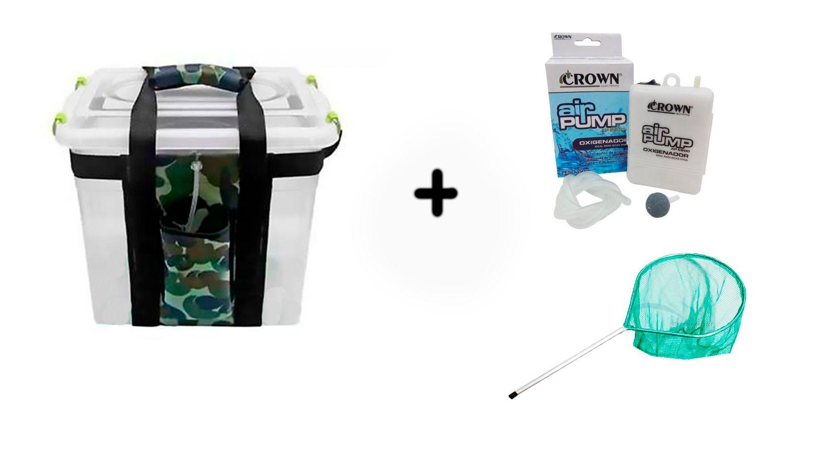 Kit Transisca Action 20 Lts + Oxigenador Crown + Passaguá Mini