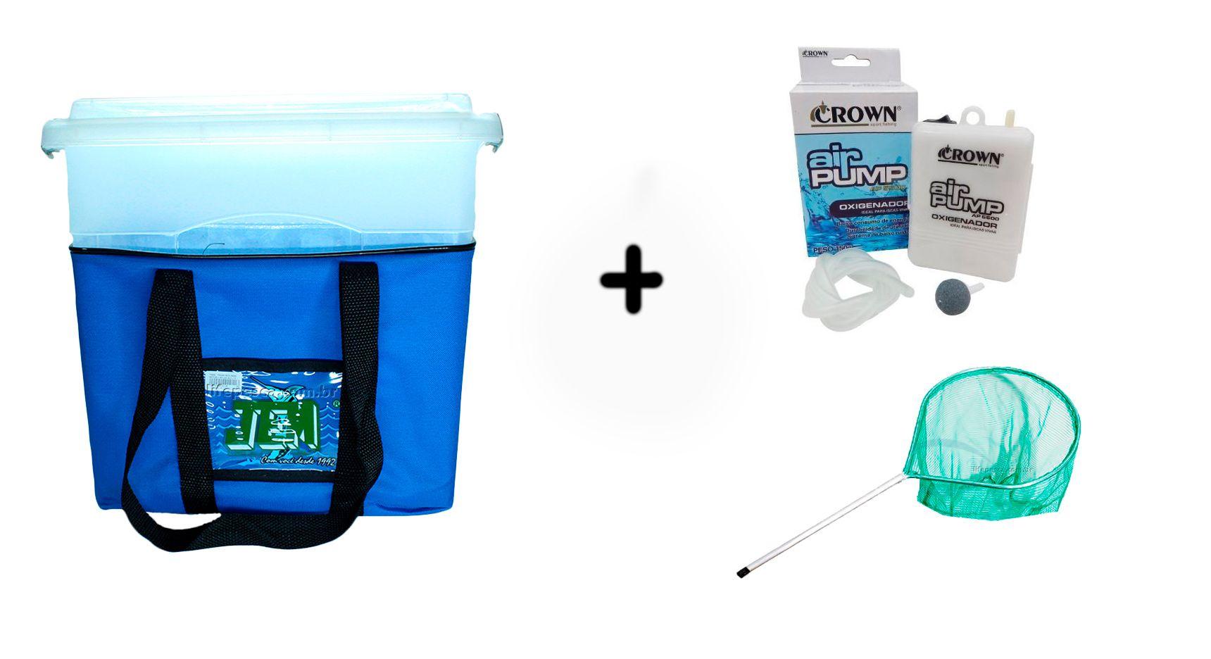 Kit Transisca Jem 26,5 Lts + Oxigenador Crown + Passaguá Mini