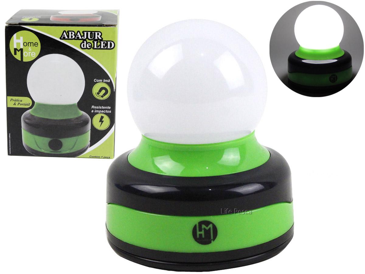 Lamparina Abajur de LED HM Com Imã / Alça - Várias Cores