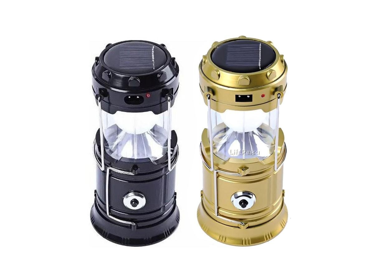 Lampião 6 Led 3W Com Lanterna USB Carregamento Solar