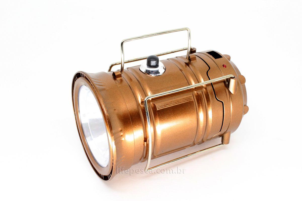 Lampião 6 Leds 3W Com Lanterna - Xingu  - Life Pesca - Sua loja de Pesca, Camping e Lazer