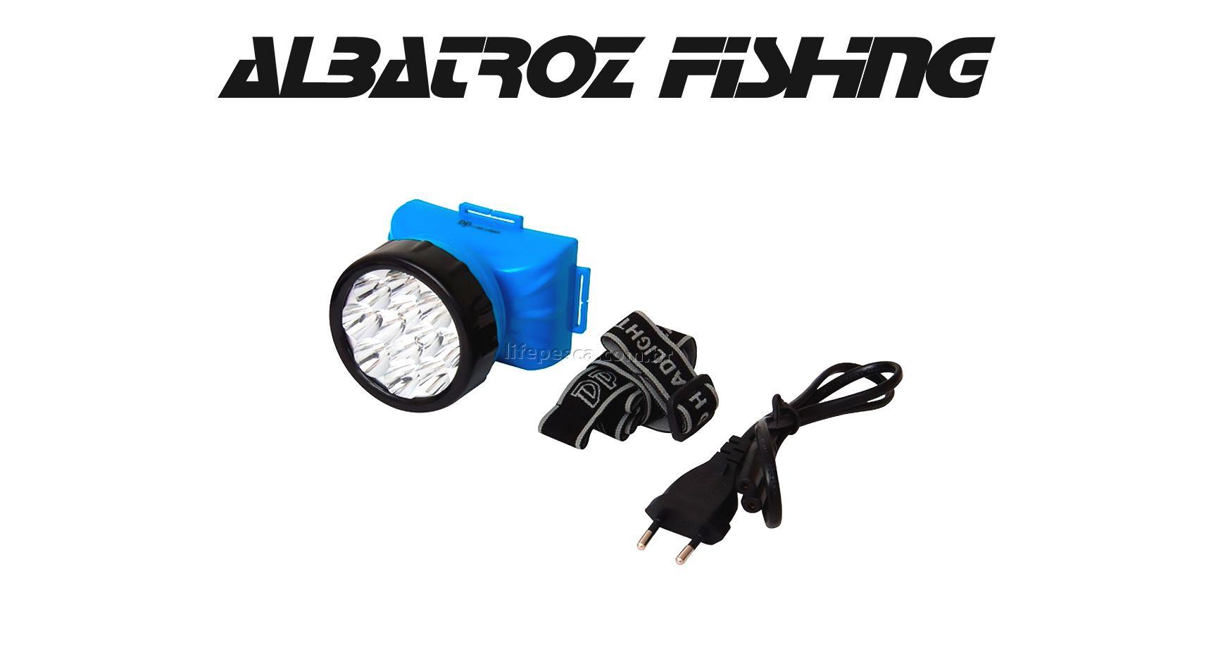 Lanterna Led Para Cabeça Recarregável - Albatroz Fishing - LED-722B  - Life Pesca - Sua loja de Pesca, Camping e Lazer