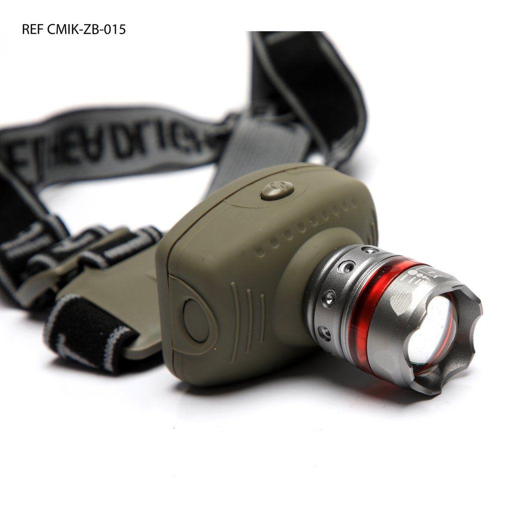 Lanterna de Cabeça Tática ZB-015 LED Cree Zoom 1000w Regulagem de Foco