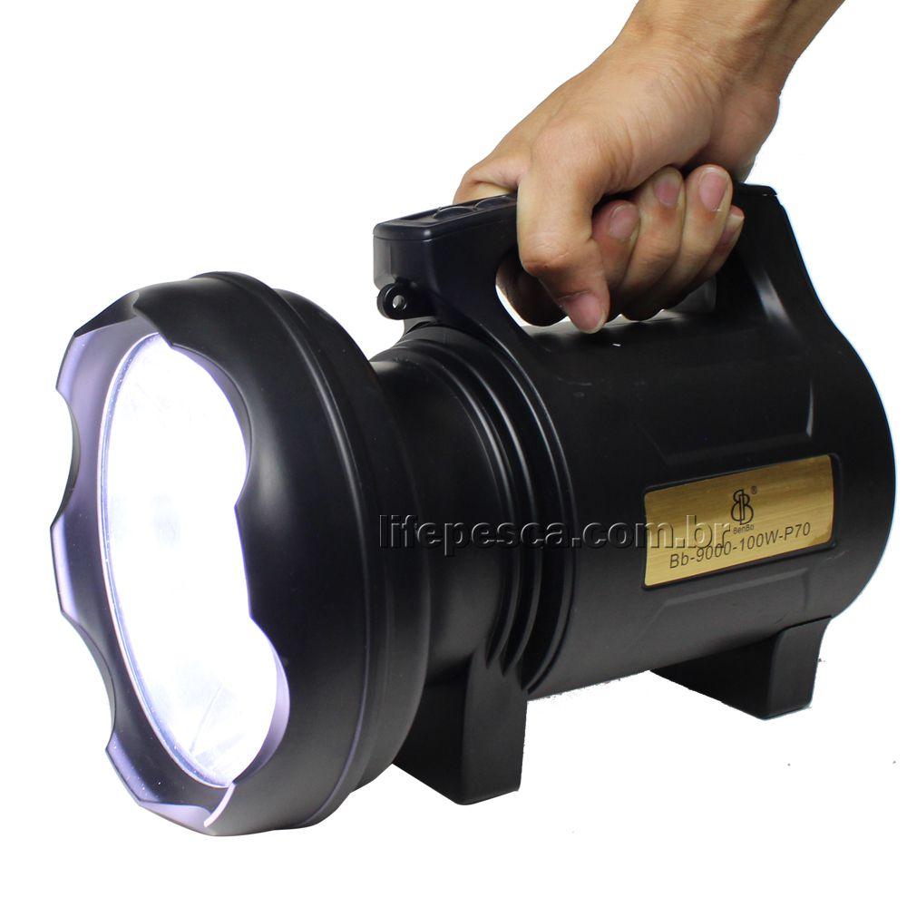 Lanterna Holofote T6 Led Recarregável Bb9000 100w - P70