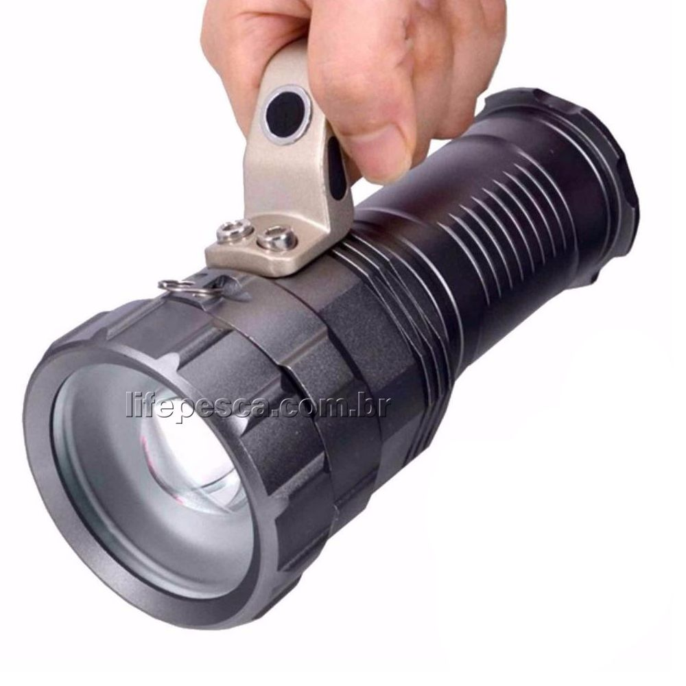 Lanterna Led Holofote de Mão Max 800 Com Zoom - Cmik