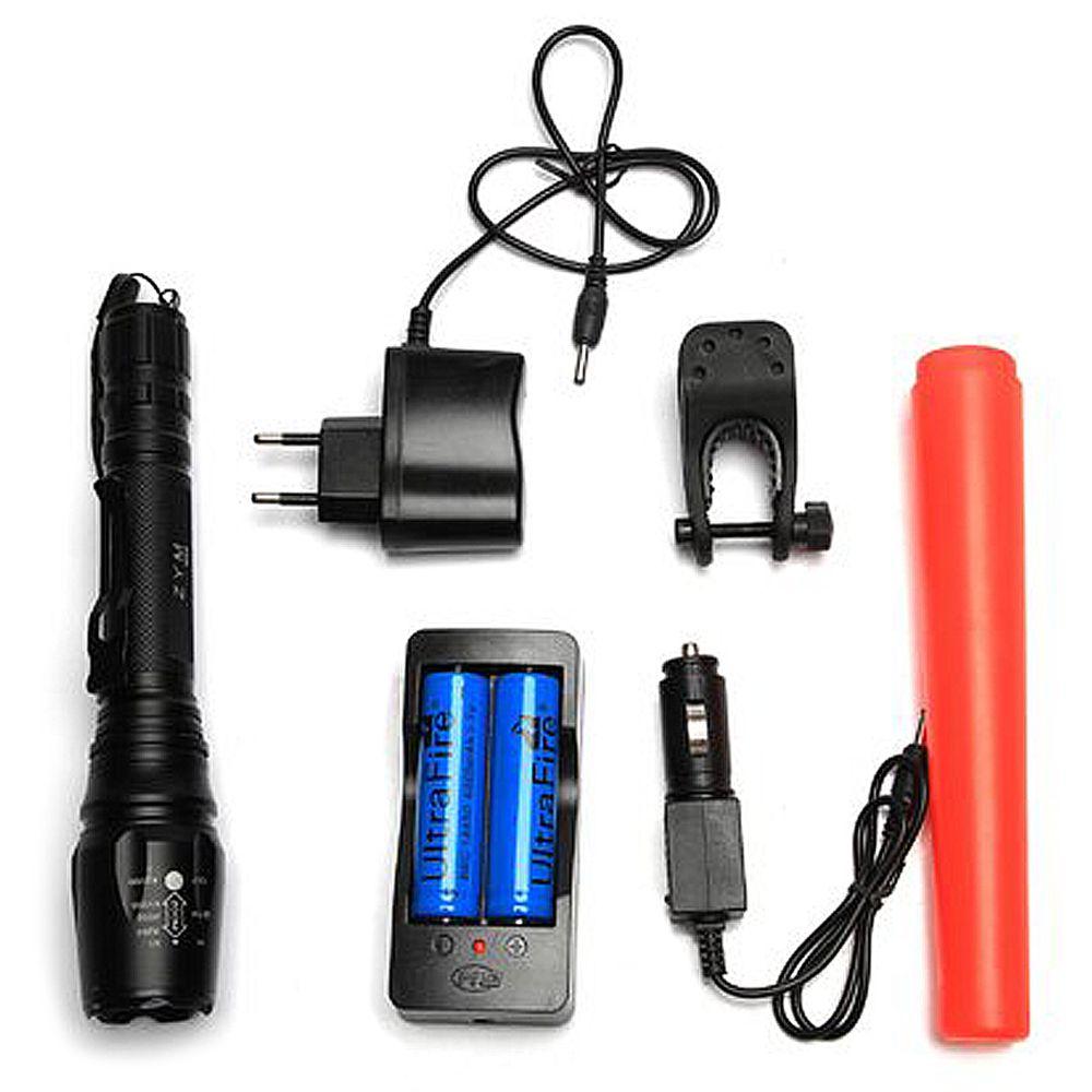 Lanterna Led T6 Tática de Luz Digital 1000 Lumes Com Zoom - Cmik