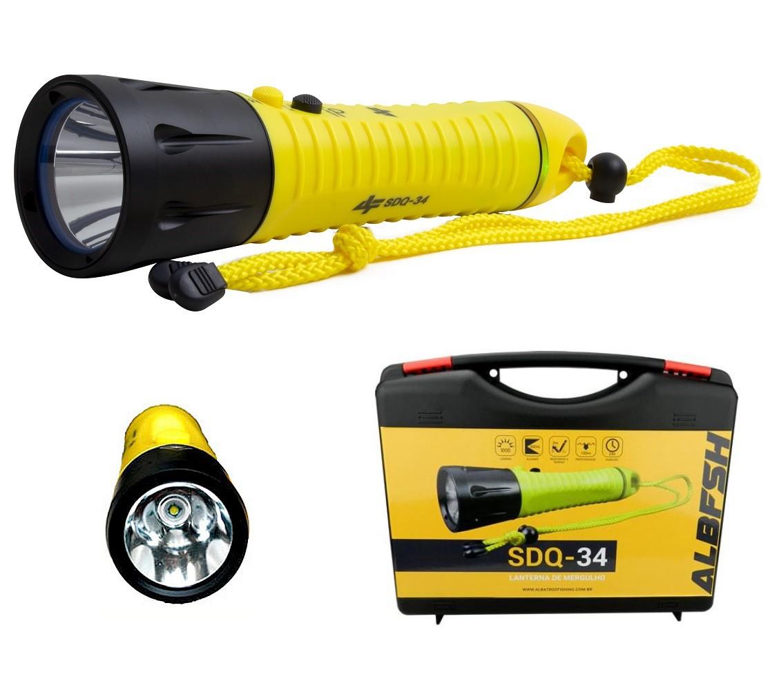 Lanterna para Mergulho Albatroz SDQ-34 - Alcance de 300 Metros