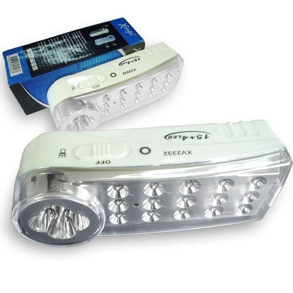Lanterna Xingu XV2332 Recarregável 19 Led 2 Funções