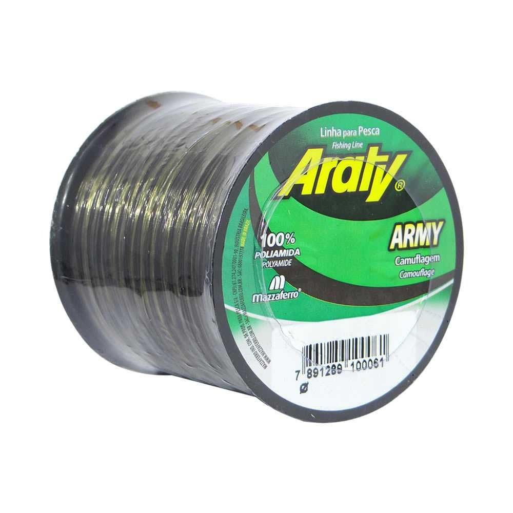 Linha de Monofilamento Araty Army Camuflada - Vários Tamanhos e Espessuras  - Life Pesca - Sua loja de Pesca, Camping e Lazer