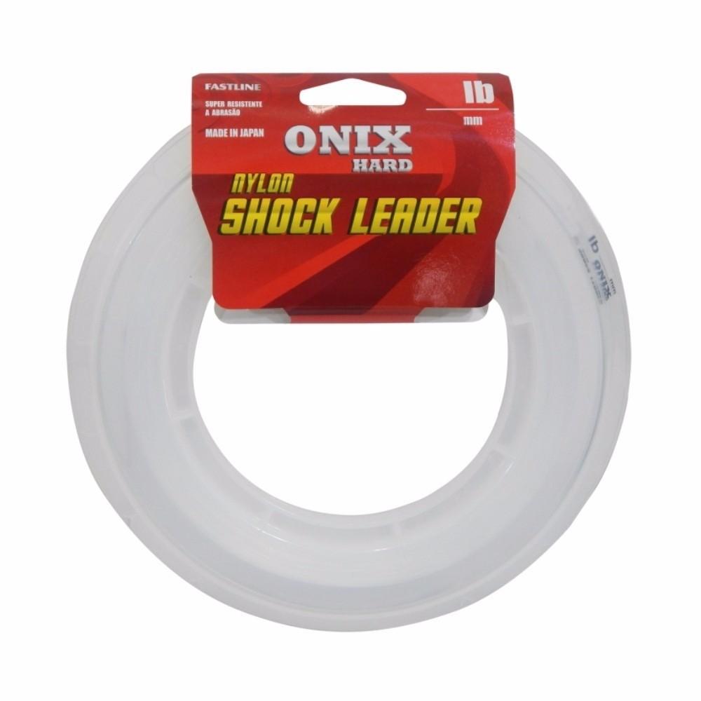 Linha Fastline Onix Hard Shock Leader 0,43mm 25lbs - 50 Metros  - Life Pesca - Sua loja de Pesca, Camping e Lazer