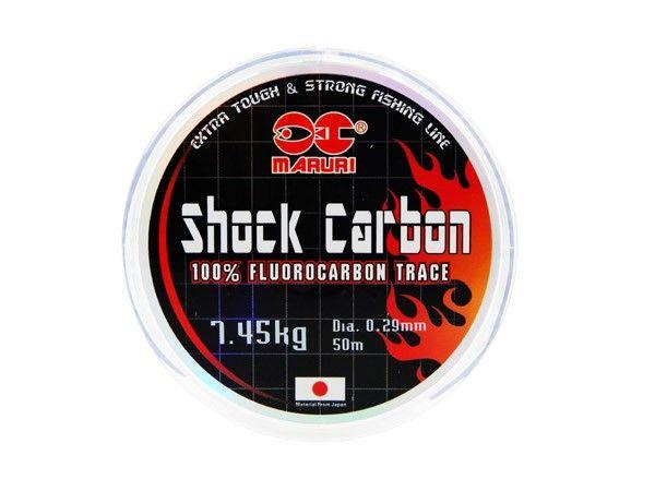 Linha Fluorcarbono Shock Carbon 0,35mm 22lb/9,78kg - 50 Metros  - Life Pesca - Sua loja de Pesca, Camping e Lazer