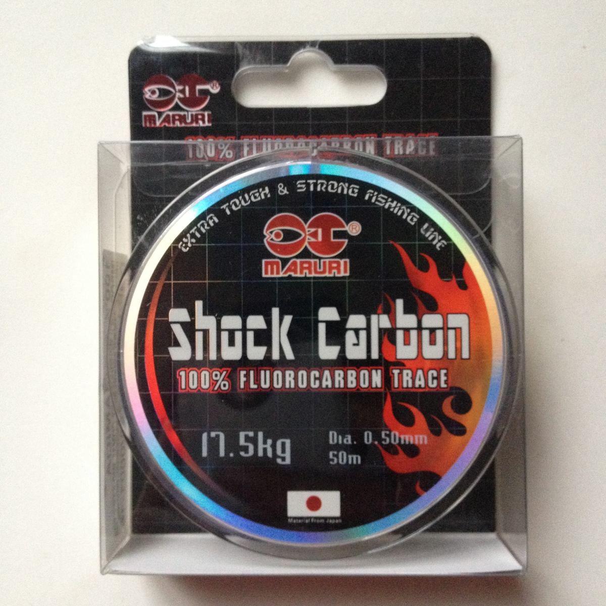 Linha Fluorcarbono Shock Carbon 0,50mm 29lbs/13,5kg - 50 Metros  - Life Pesca - Sua loja de Pesca, Camping e Lazer