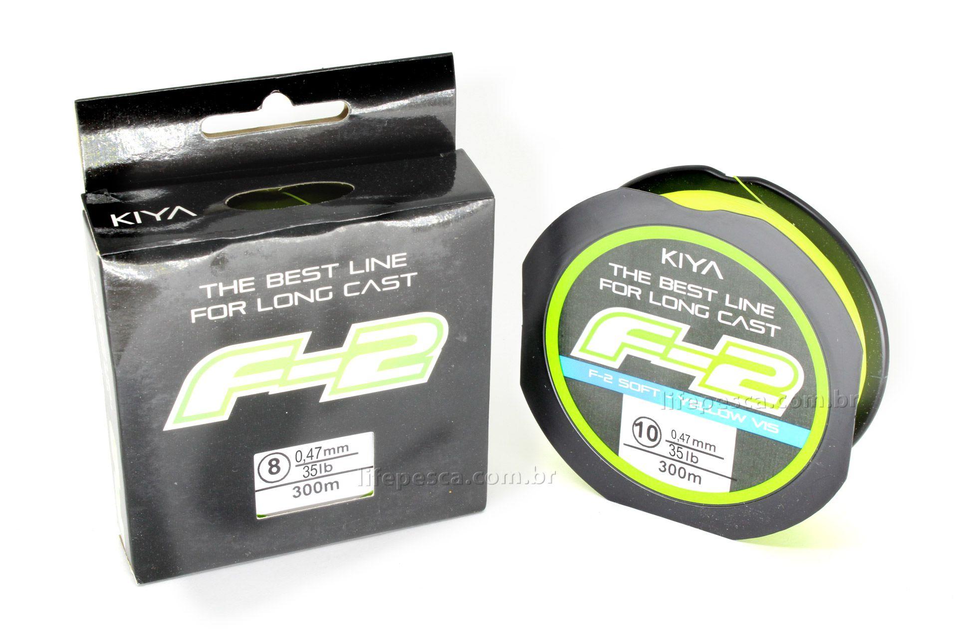 Linha Monofilamento Kiya F-2 Soft Yellow 0,47mm 35lb/16,0kg - 300 Metros  - Life Pesca - Sua loja de Pesca, Camping e Lazer