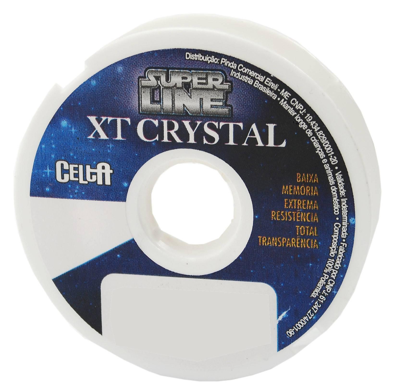 Linha Mono Celta XT Crystal e Titanium 0,35mm 19,2lbs/8,7kg - 120 Metros