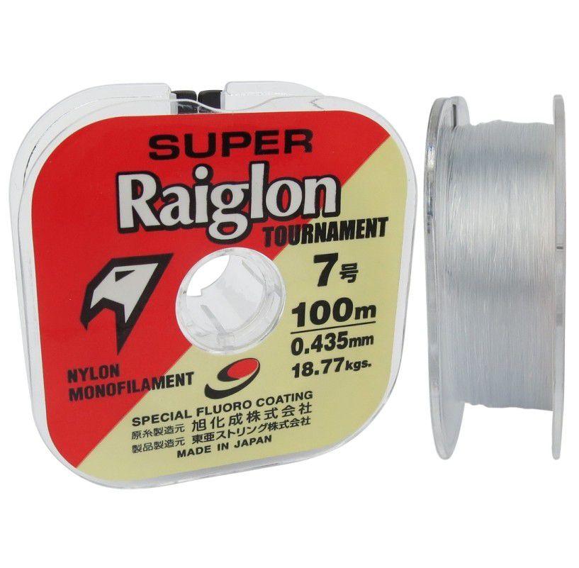 Linha Monofilamento Super Raiglon 0,620mm 60lbs/27,36kg - 100 Metros  - Life Pesca - Sua loja de Pesca, Camping e Lazer