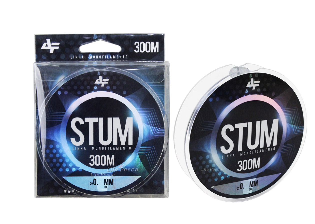 Linha Monofilamento Albatroz Stum 0,18mm 5,8lb/2,6kg - 300 Metros