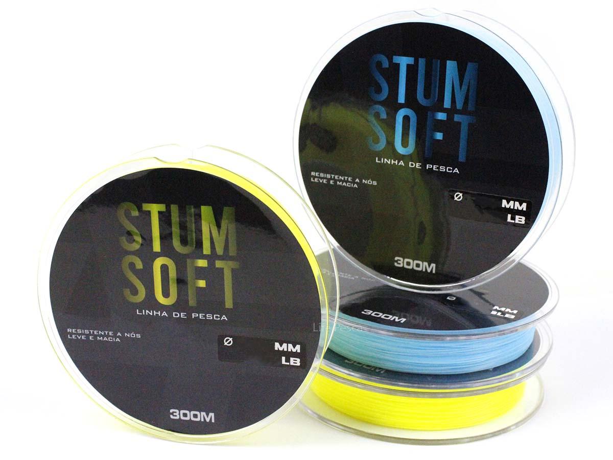 Linha Monofilamento Albatroz Stum Soft 0,38mm 27lbs/12,2kg - 300 Metros