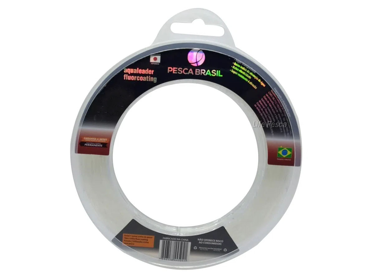 Linha Monofilamento Aqualeader 0.33mm 16lb/7,30kg - 60 Metros