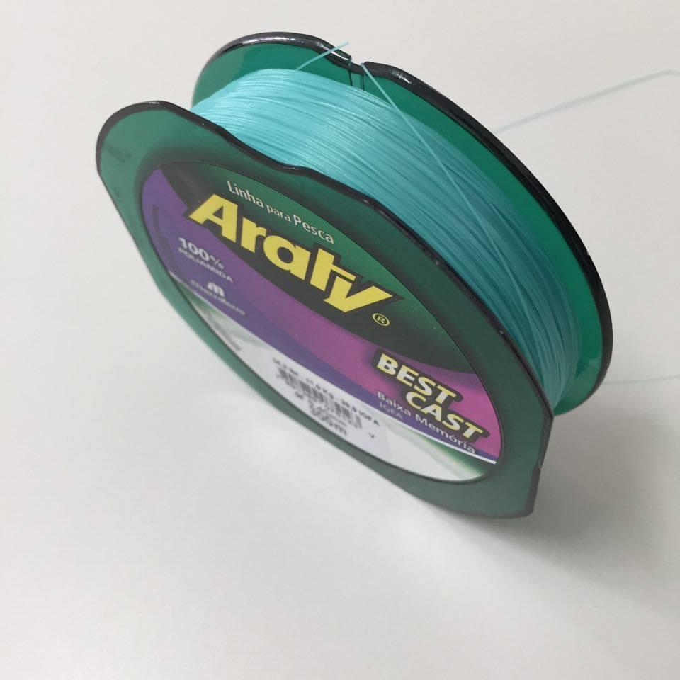 Linha Monofilamento Araty Best Cast 0,45mm - 300 Metros  - Life Pesca - Sua loja de Pesca, Camping e Lazer