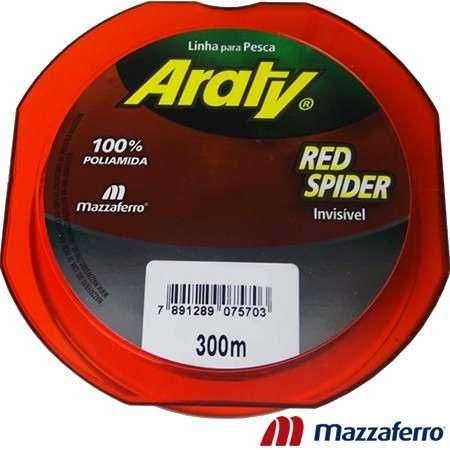 Linha Monofilamento Araty Red Spider 0,20mm - 300 Metros  - Life Pesca - Sua loja de Pesca, Camping e Lazer