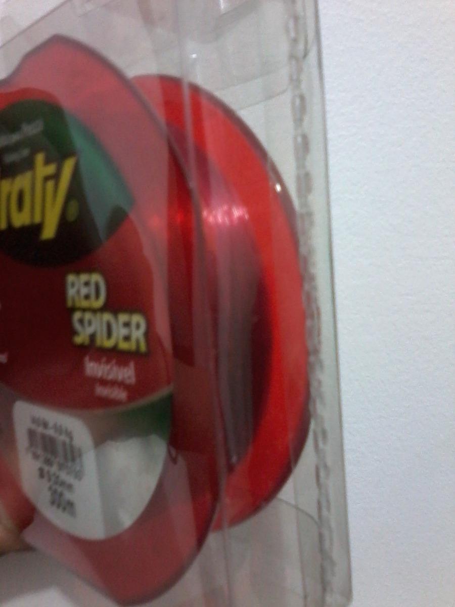 Linha Monofilamento Araty Red Spider 0,55mm - 300 Metros  - Life Pesca - Sua loja de Pesca, Camping e Lazer