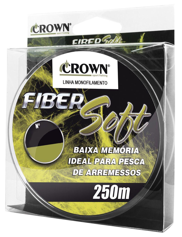 Linha Monofilamento Crown Fiber Soft 0,37mm 27lb/12,23kg - 250 Metros  - Life Pesca - Sua loja de Pesca, Camping e Lazer
