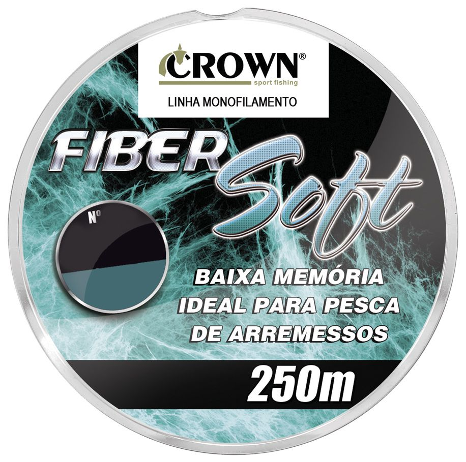Linha Monofilamento Crown Fiber Soft 0,40mm 32lb/14,49kg - 250 Metros   - Life Pesca - Sua loja de Pesca, Camping e Lazer