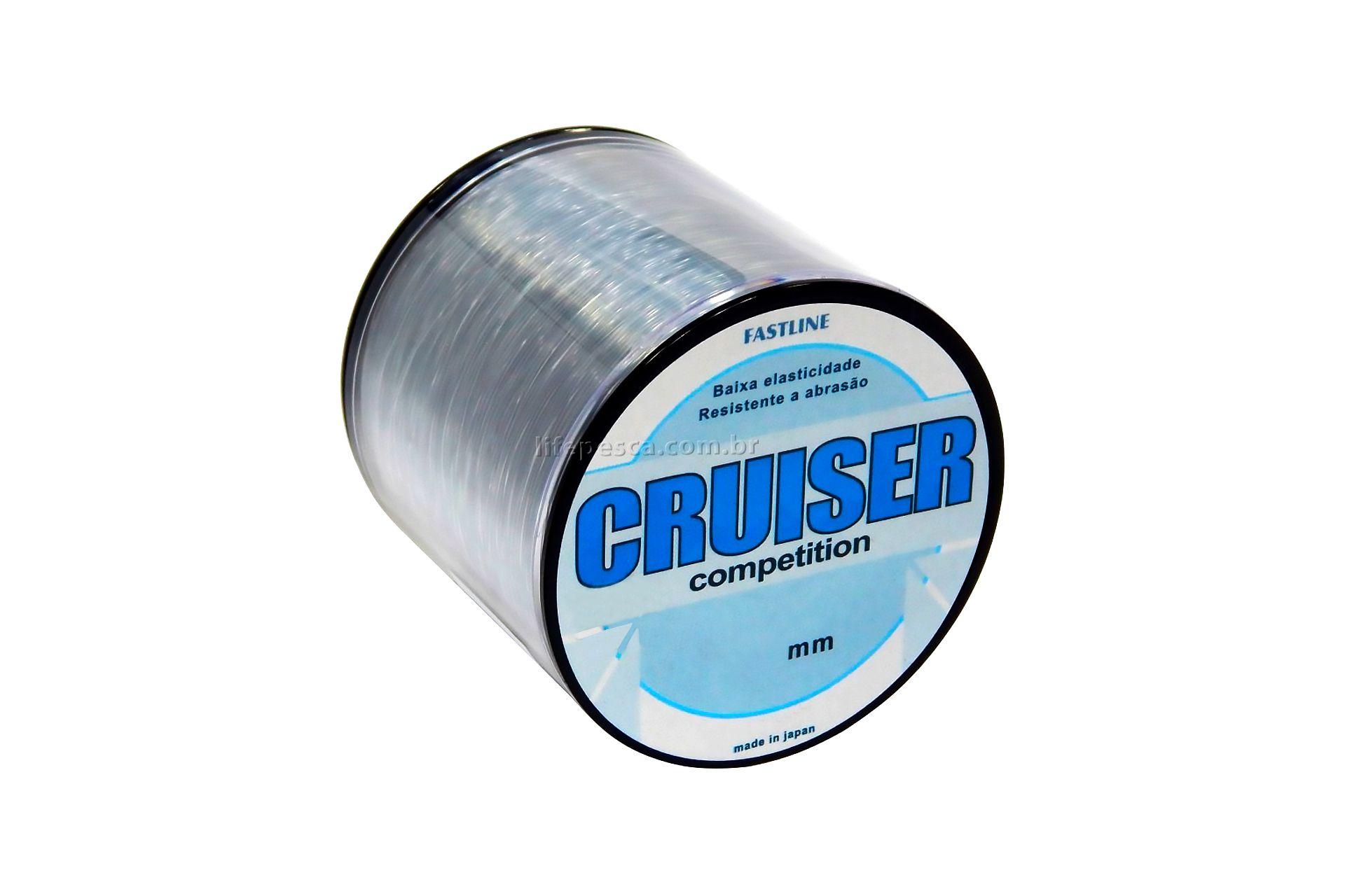 Linha Monofilamento Fastline Cruiser Competition 0,435mm 37lbs/17kg - 500 Metros   - Life Pesca - Sua loja de Pesca, Camping e Lazer