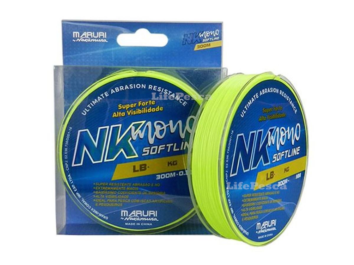 Linha Monofilamento Maruri By Nakamura NK Soft Line 0,57mm 40lbs/18,10kg - 300 Metros  - Life Pesca - Sua loja de Pesca, Camping e Lazer